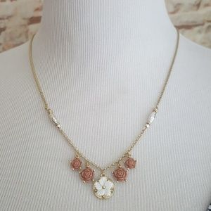 New Lucky Brand Multi-Flower Necklace